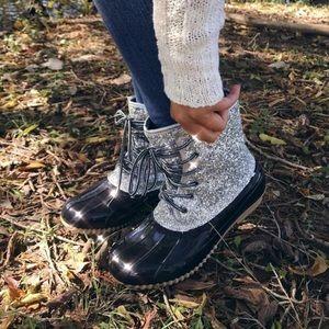Snow Glitter Duck Boots